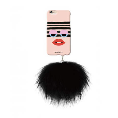 Monster au Portable Vortex with black raccoon pom for iPhone 6 / 6s