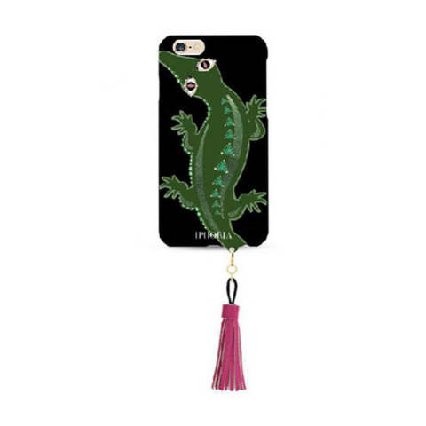 Wild Aligator with Jewelery Mold and pink color Tassel iPhone 6 / 6s