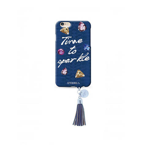 Pendant au Portable Time To Sparkle with blue Tassel for iPhone 6 / 6s