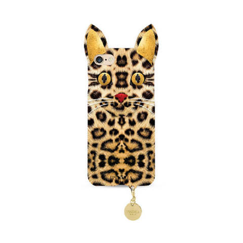Wild Case Leo Cat with Golden Pendant for iPhone 7/8
