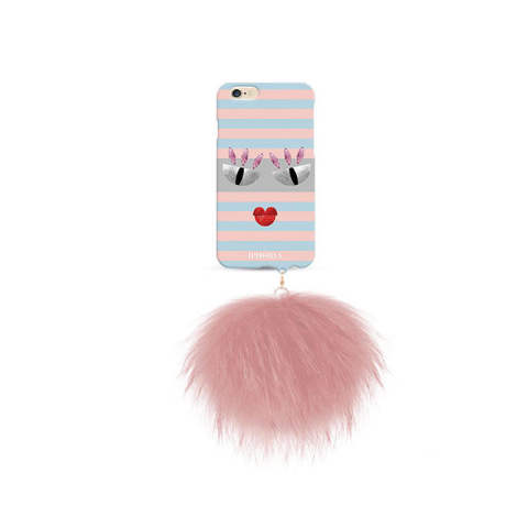 Monster au Portable Striped Thief with rose raccoon pom pom for iPhone 6 / 6s
