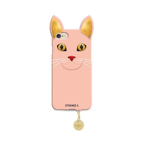 Wild Case Rose Cat with Golden Pendant for iPhone 7/8
