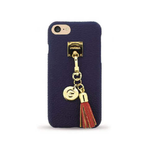Lining Case Dark Blue with red Tassel for iPhone 7/8