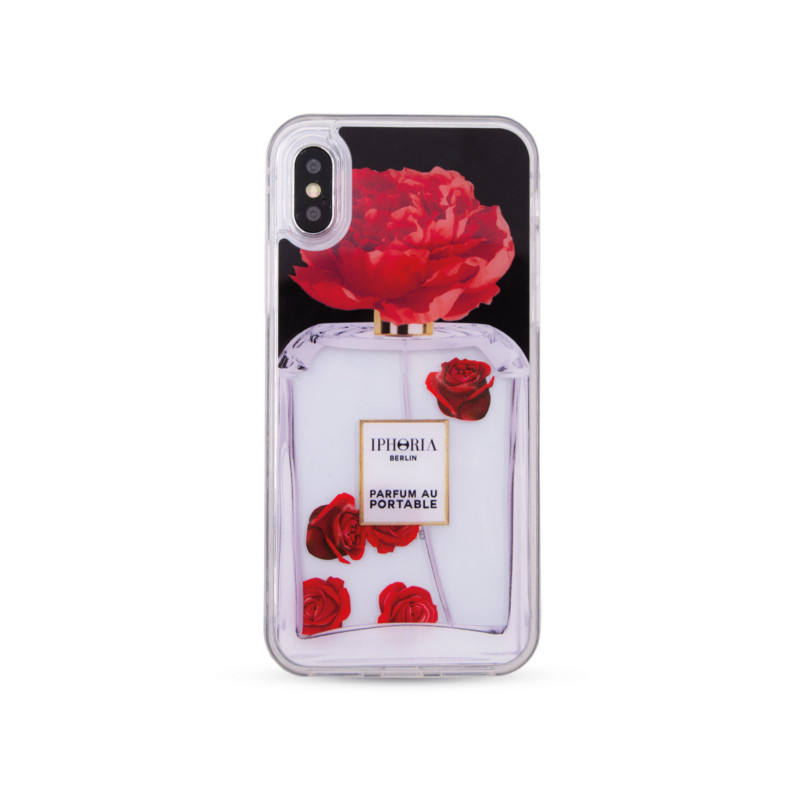 Liquid Case for Apple iPhone X/XS - Parfum Flower Red