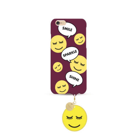 Shine Smiley Case with smiley pendant for Apple iPhone 6/6s