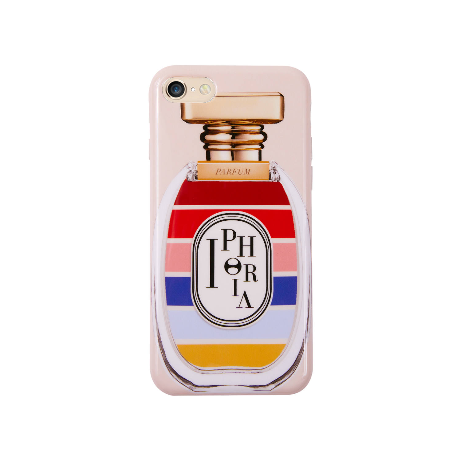 Case for Apple iPhone 7/8/SE(第2世代) - Perfume Round Stripes Multicolor