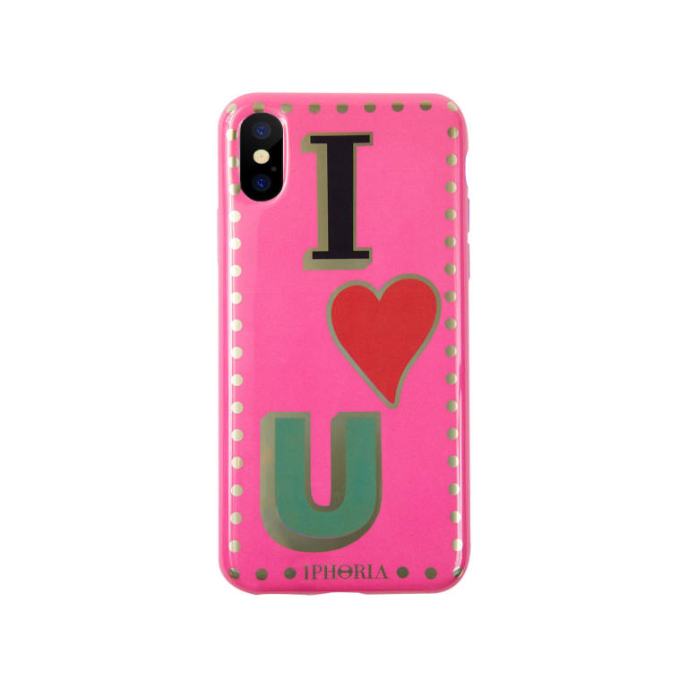 iphoria case for apple iphone x xs black i love you with studs