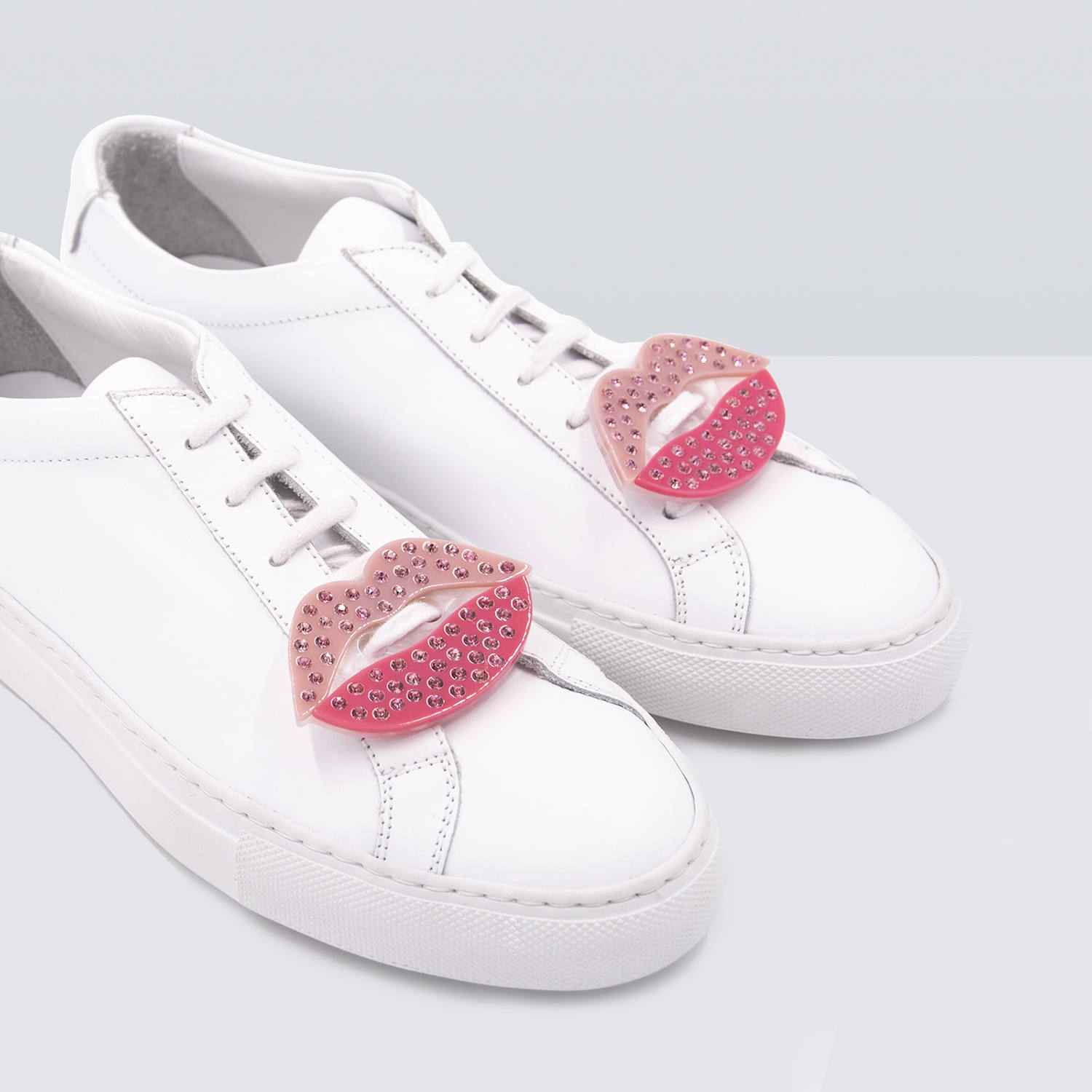 Acryl Sneaker Patches - Glitter Lips
