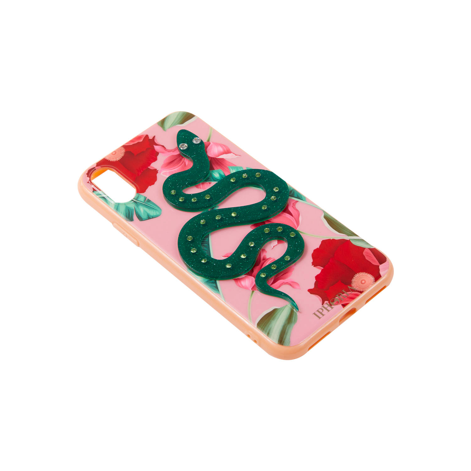 3D Case for Apple iPhone X/XS - Nude Flowers Snake