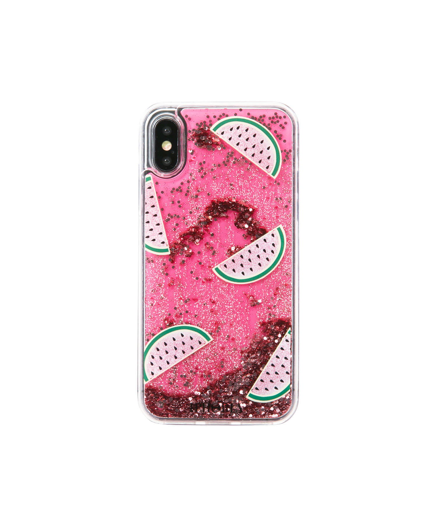 Liquid Case for Apple iPhone X/XS - Melon Glitter Gold