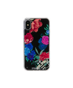 Liquid Case for Apple iPhone X/XS - Dark Flowers With Bee