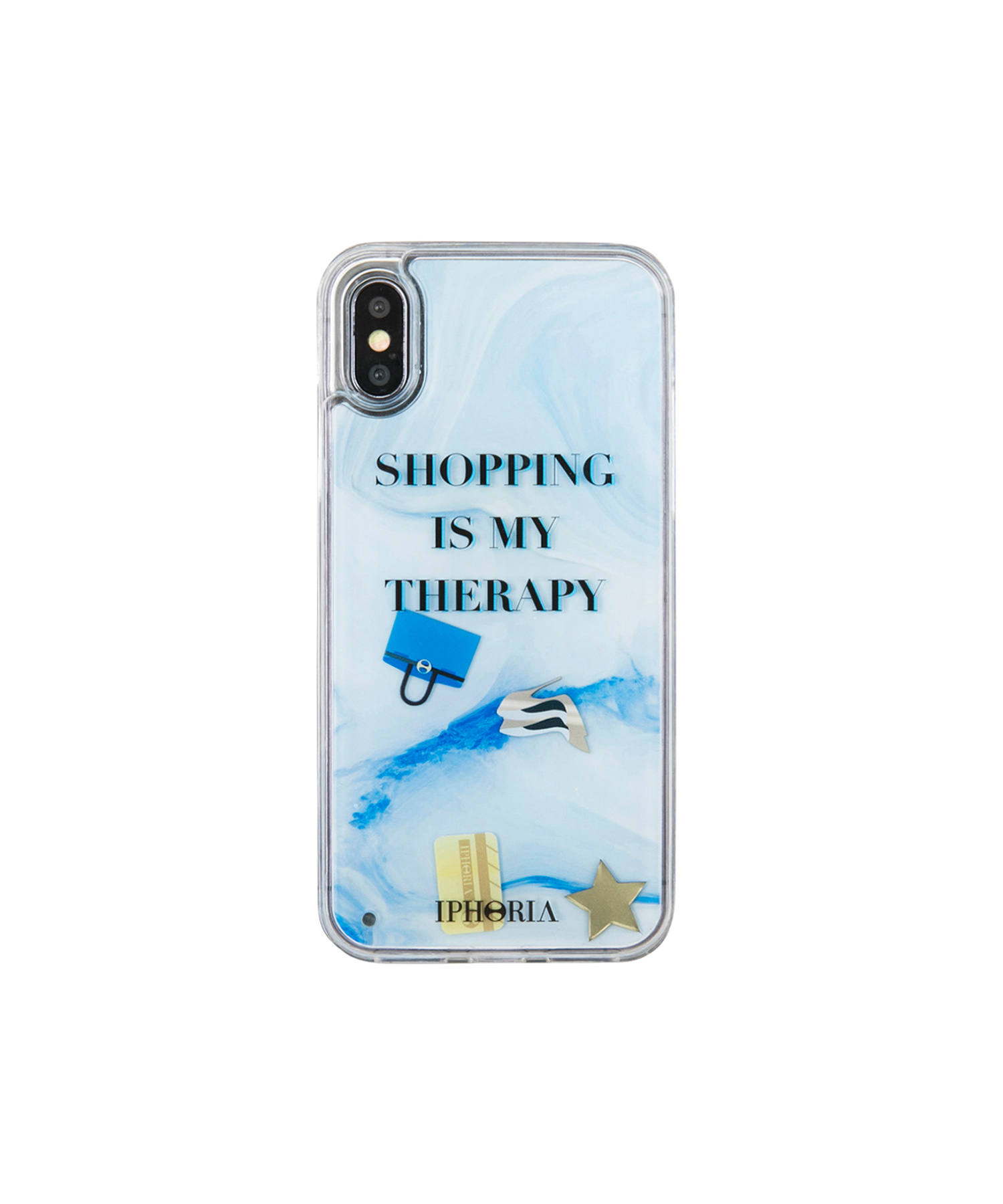Liquid Case for Apple iPhone X/XS - Shopping Is My Therapy