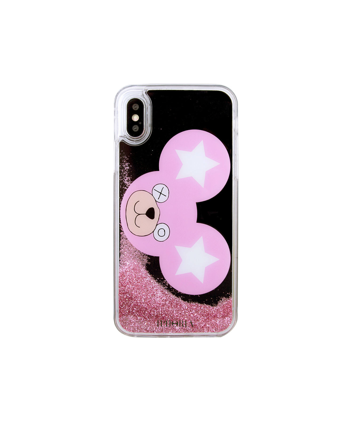 Liquid Case for Apple iPhone X/XS - Pink Teddy Is Power