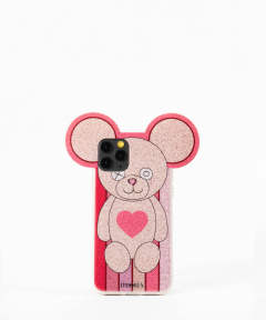 Case for Apple iPhone 11 Pro - Teddy Golden Stripes with Heart
