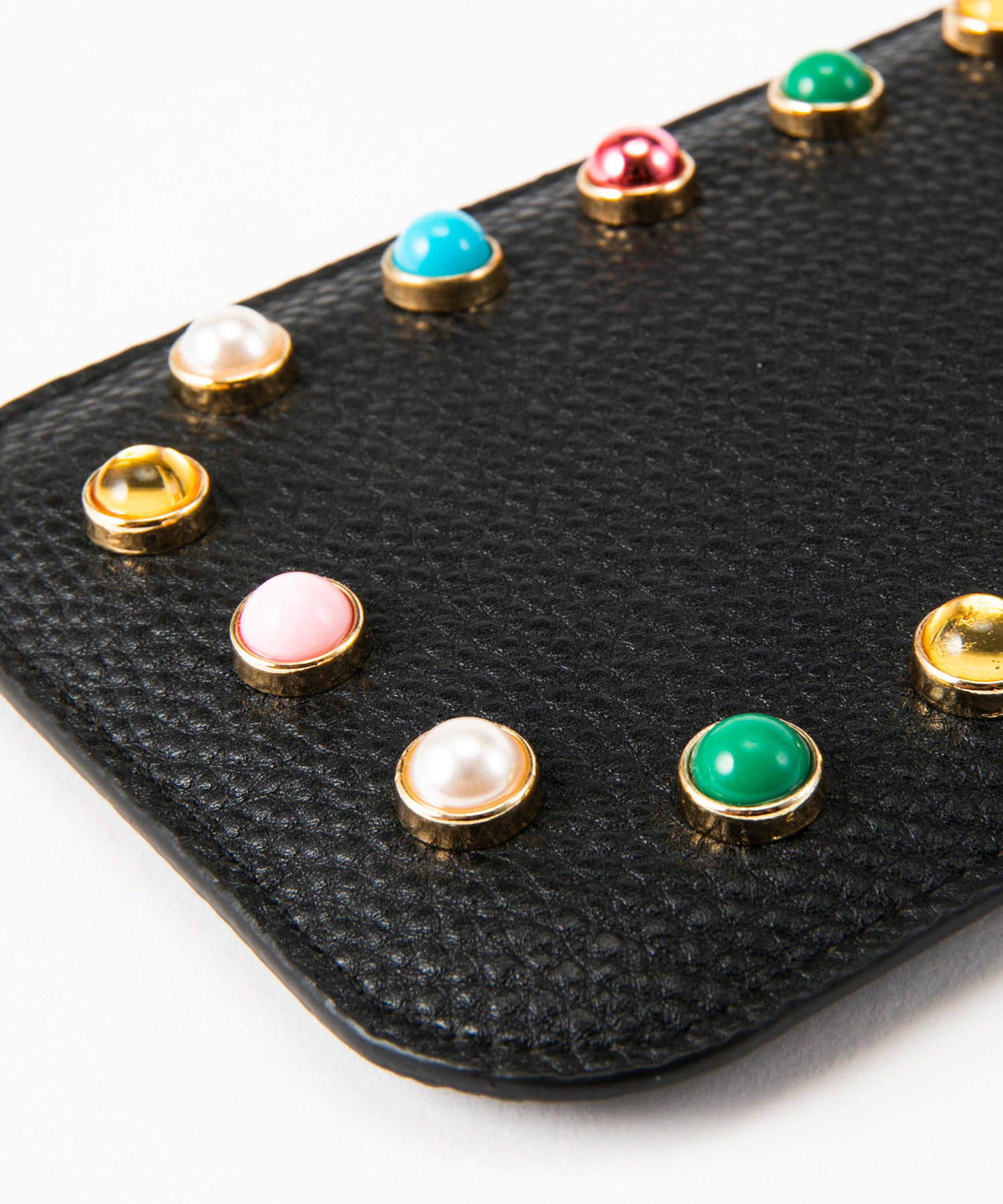 Necklace Sleeve Case for Apple iPhone 7+/8+/XR/XS Max/11/11 Pro Max - Black & Colorful Pearls