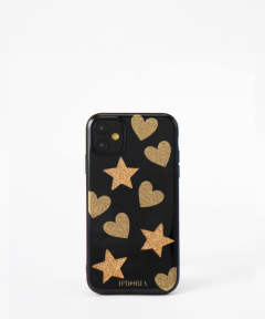 3D Case for Apple iPhone 11 - Heart Star Pattern
