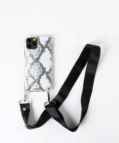 Necklace Case for Apple iPhone 11 Pro with Black Strap - B&W Snake