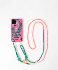 Necklace Case for Apple iPhone 11 Pro - Pink Leopard